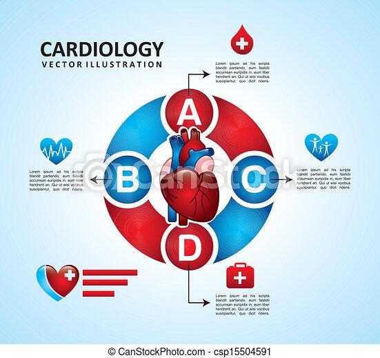 cardiology design  - csp15504591