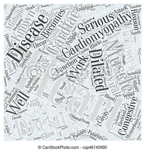 Cardiomyopathy Word Cloud Concept - csp46140990