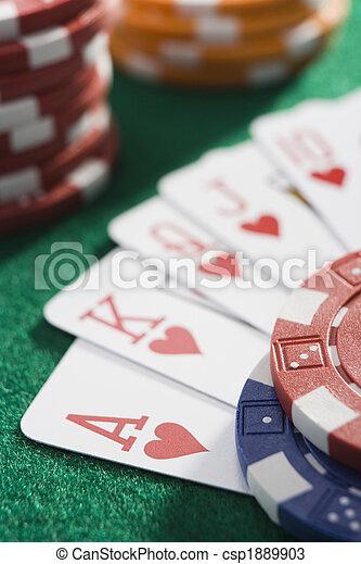 cards, таблица, казино, выигрыш, рука - csp1889903