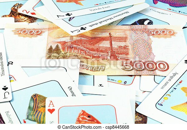 Cards and money - csp8445668