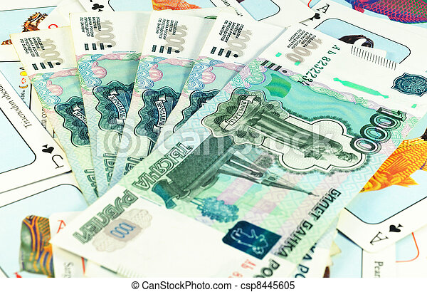 Cards and money - csp8445605