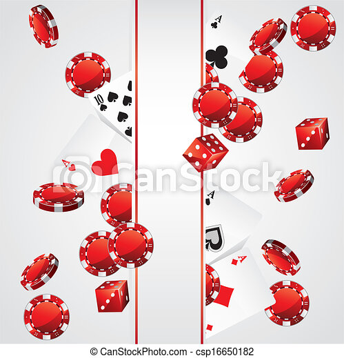 Cards Chips Casino Poker background - csp16650182