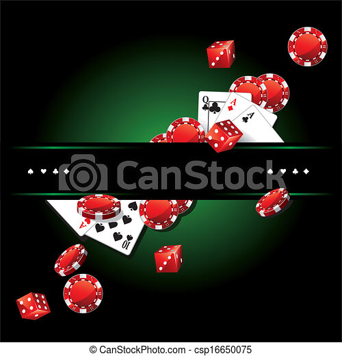 Cards Chips Casino Poker background - csp16650075