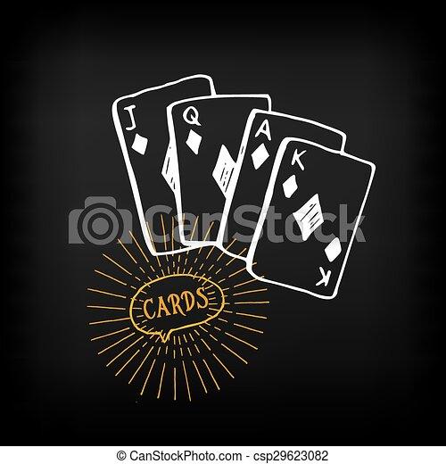 Cards sketch vector design. - csp29623082