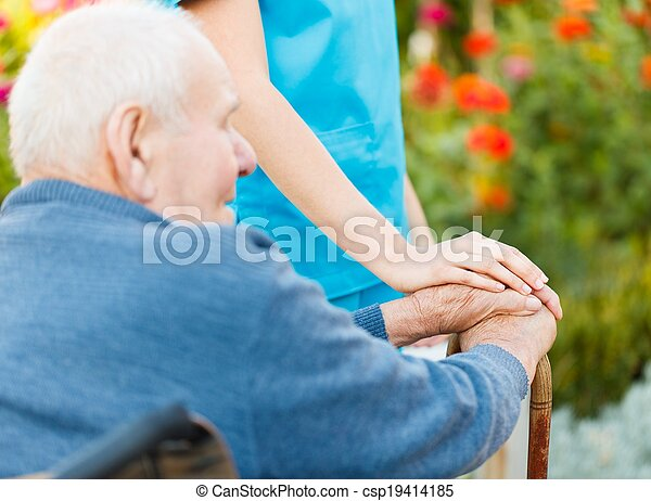 Care for Elderly in Wheelchair - csp19414185