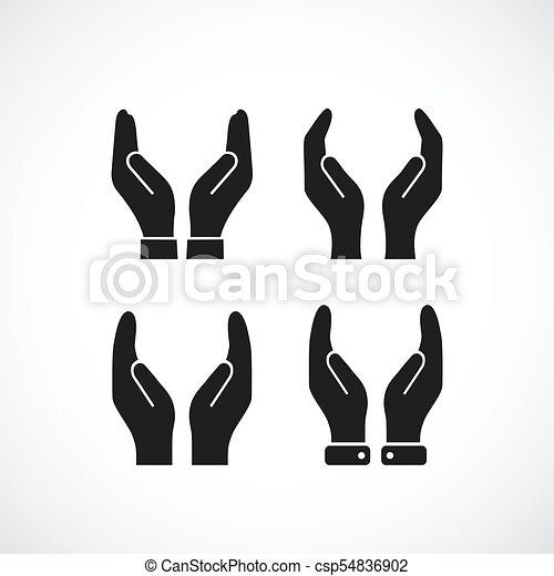 Care hands vector icon - csp54836902