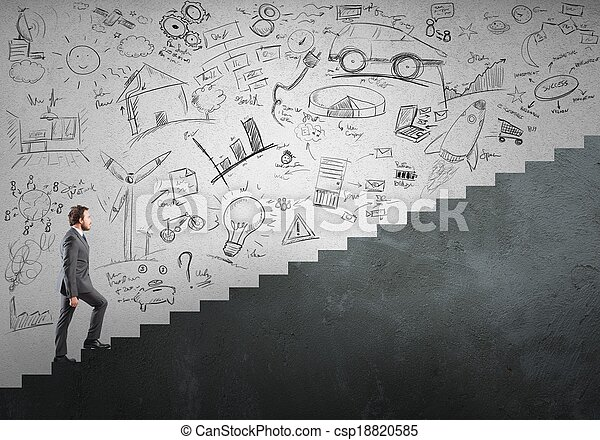 Career and ambition of a businessman - csp18820585