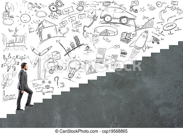 Career and ambition of  a businessman - csp19568865