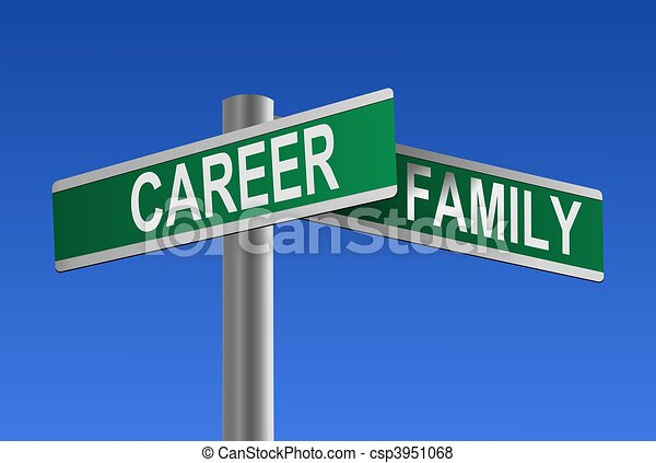 Career and Family Crossroads - csp3951068
