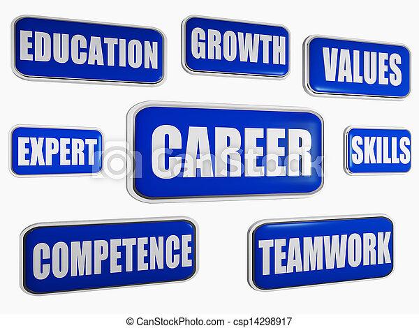 career - blue business concept - csp14298917
