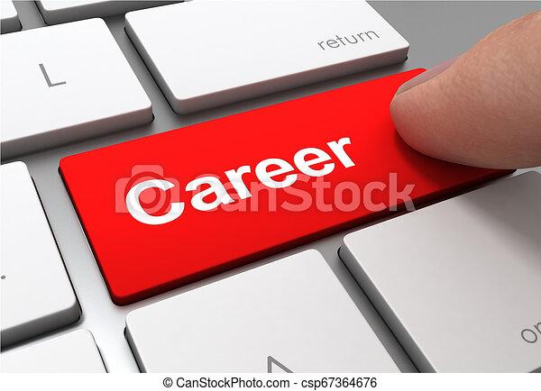 career button concept 3d illustration - csp67364676