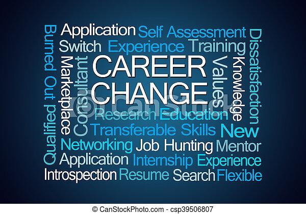 career change word cloud csp39506807