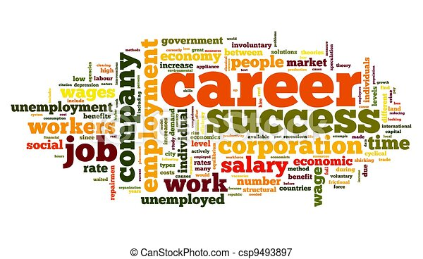Career concept in word tag cloud - csp9493897