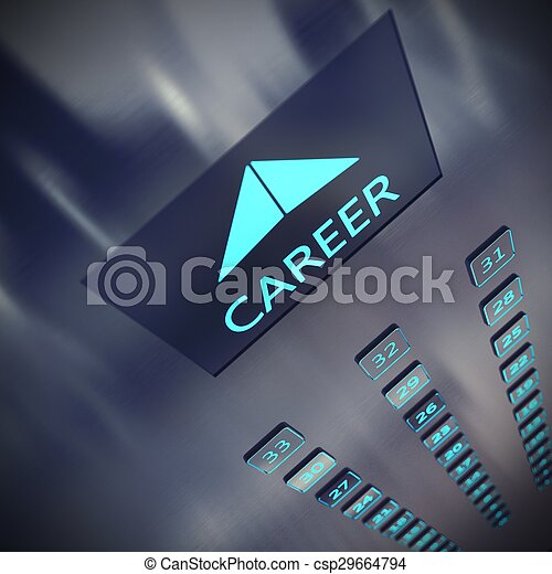 Career elevator - csp29664794