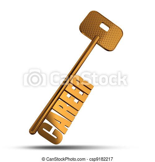Career gold key - csp9182217