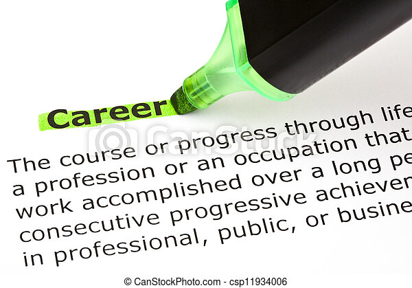 Career highlighted in green - csp11934006