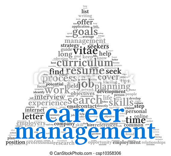 Career management in word tag cloudR - csp10358306