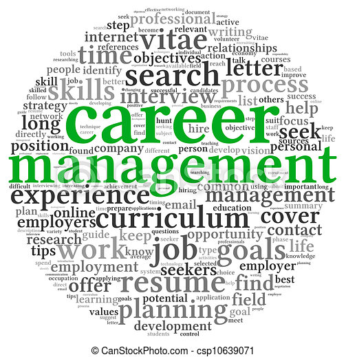 Career management in word tag cloudR - csp10639071