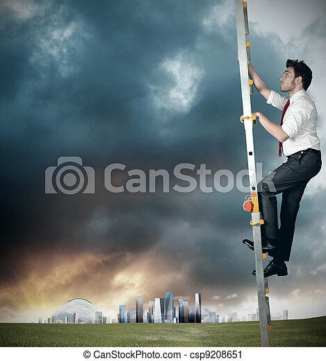 Career of a businessman - csp9208651