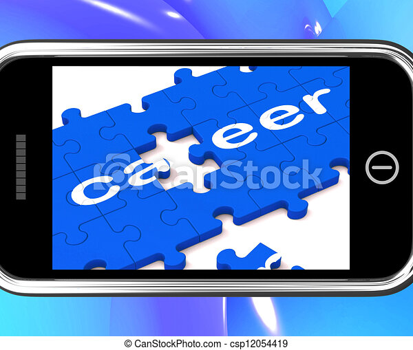 Career On Smartphone Showing Professional Opportunities - csp12054419
