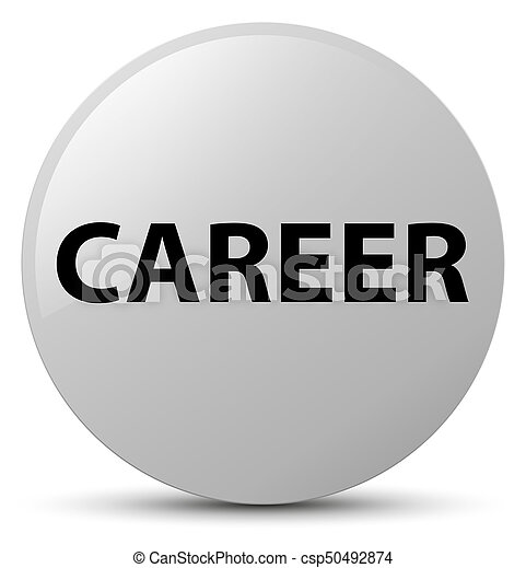 Career white round button - csp50492874