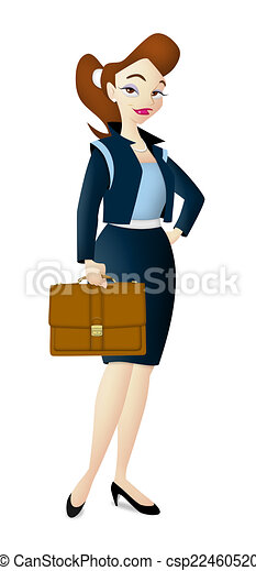 Career Woman Career Woman Carrying Brown Leather Bag