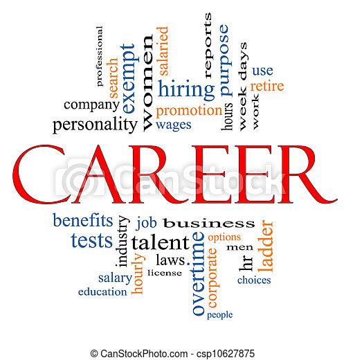 Career Word Cloud Concept - csp10627875