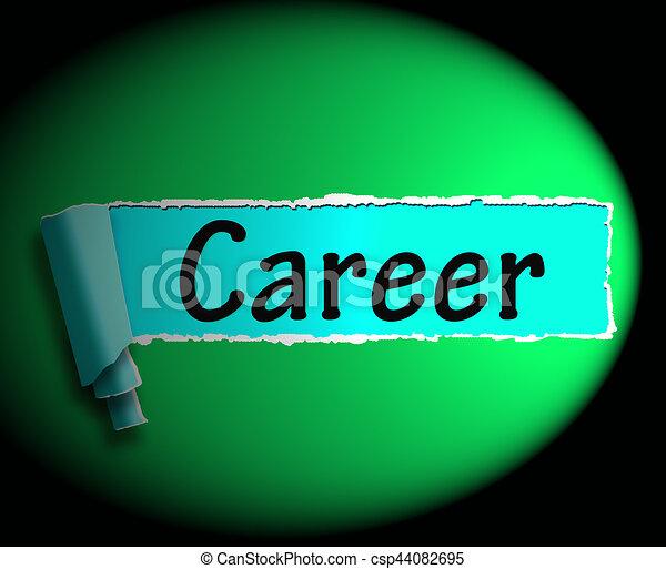 Career word means internet job 3d rendering. Career word meaning internet  job or employment search 3d rendering.