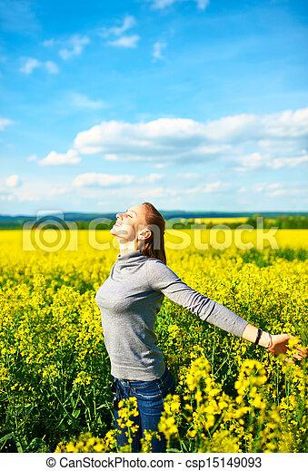 Carefree girl - csp15149093