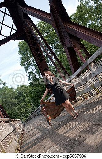 Carefree Summertime Woman - csp5657306