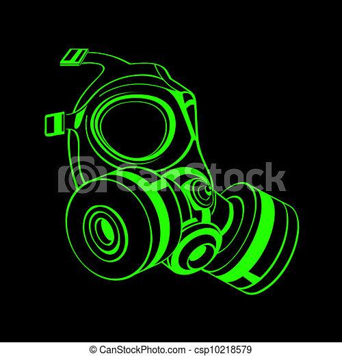 Máscara de gas - csp10218579