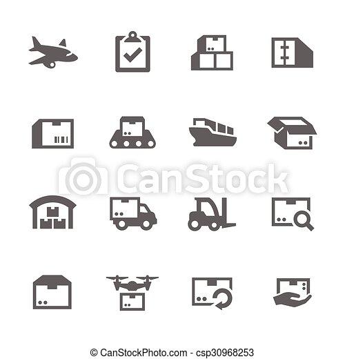 carga, ícones - csp30968253