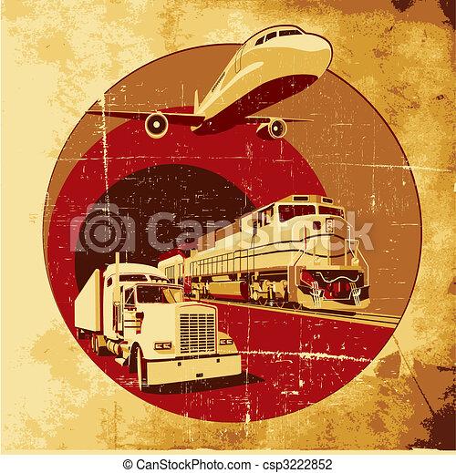 carga, grunge, transporte - csp3222852