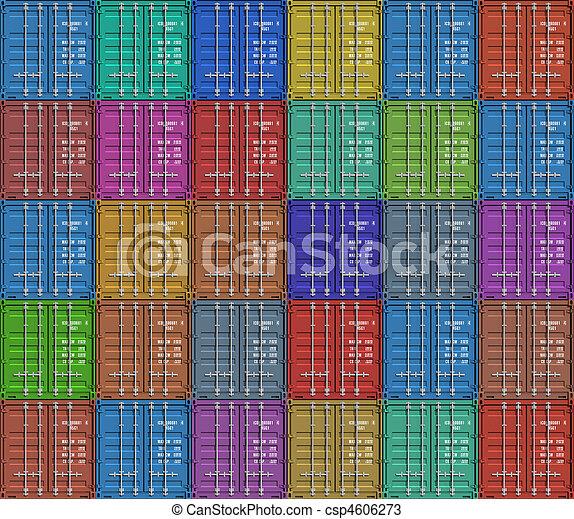 La base de los contenedores de carga - csp4606273