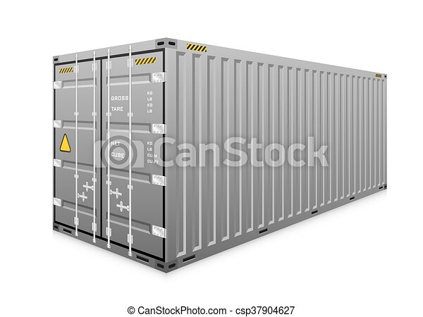 carga, vetorial, recipiente - csp37904627
