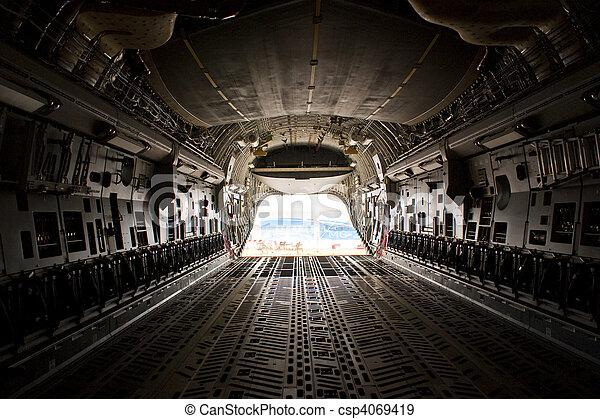 cargaison, airshow, farnborough, -, baie, c17, 2010 - csp4069419