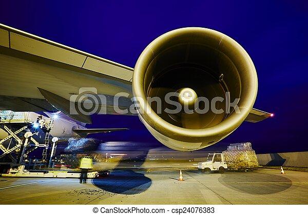 Cargo airplane - csp24076383
