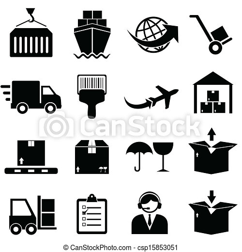 Cargo and shipping icons - csp15853051