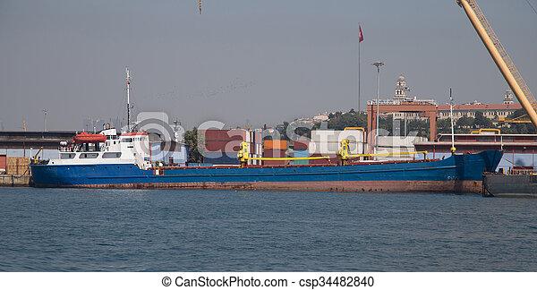 cargo, chargement, commerce, port - csp34482840
