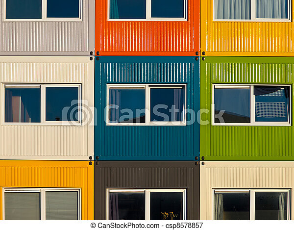 Picture of cargo container apartments as a solution to housing ...