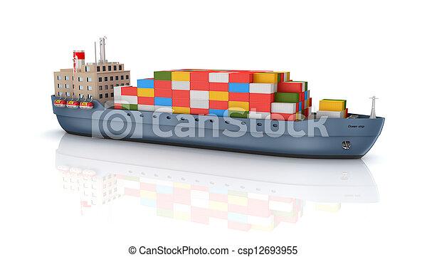 Cargo container ship - csp12693955