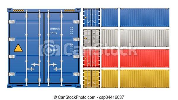 Cargo container vector - csp34416037