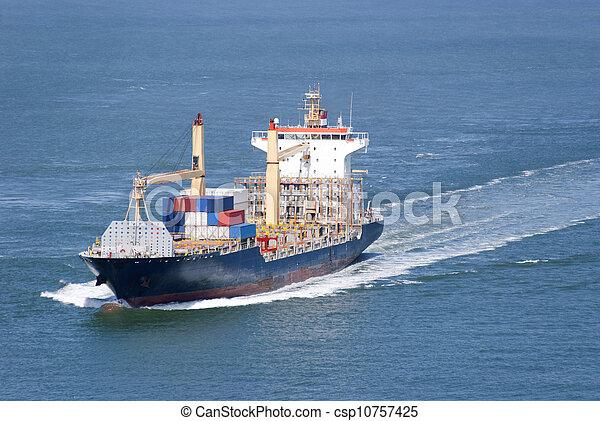 cargo, en mouvement, récipients - csp10757425