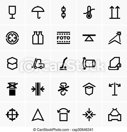 Cargo icons - csp30646341