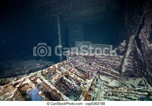 Cargo in hold 1 of the SS Thistlegorm. - csp5362188