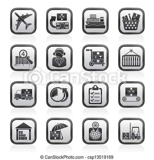 Cargo, logistic and shipping icons - csp13519169