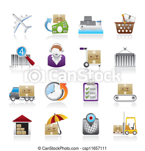 Cargo, logistic and shipping icons - csp11657111