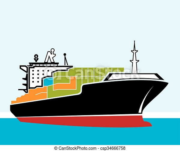 cargo ship clipart vector search illustration drawings and eps rh canstockphoto com ship victory ship victoria 1846