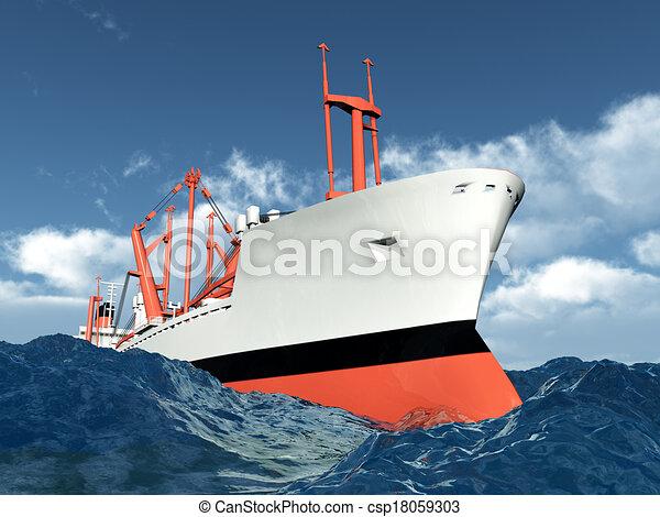 Cargo Ship - csp18059303