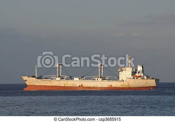 Cargo ship on the sea - csp3685915